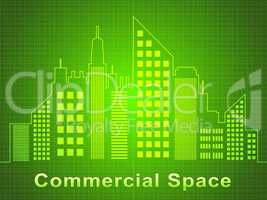 Commercial Space Represents Real Estate Offices 3d Illustration