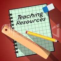 Teaching Resources Represents Classroom Materials 3d Illustratio