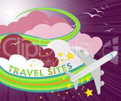 Travel Sites Shows Online Vacations 3d Illustration