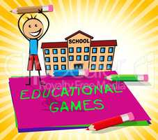 Educational Games Displays Learning Game 3d Illustration