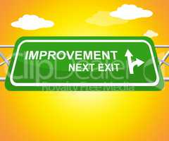 Improvement Sign Showing Progress Growth 3d Illustration