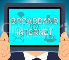 Broadband  Internet Shows Fast Speed 3d Illustration