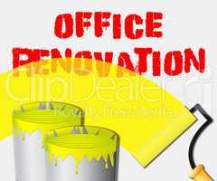 Office Renovation Displays Company Upgrading 3d Illustration