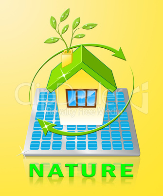 Nature Indicates Organic Healthy And Pure 3d Illustration