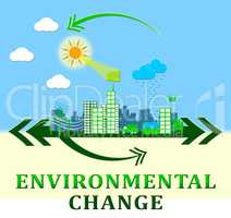 Environmental Change Shows Ecology Effect 3d Illustration