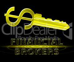 Financial Brokers Means Agent Investing 3d Illustration