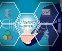 Economic Factors Displays Financial Features 3d Illustration
