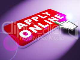 Apply Online Means Internet Job 3d Rendering