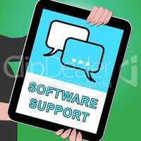 Software Support Tablet Shows Online Assistance 3d ILlustration