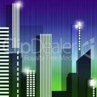 Skyscraper Buildings Means Building Cityscape 3d Illustration