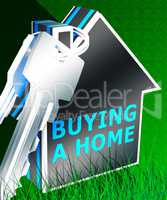 Buying A Home Means Real Estate 3d Rendering