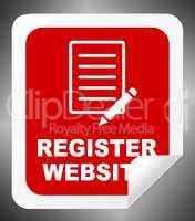 Register Website Indicates Domain Application 3d Illustration
