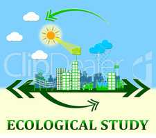 Ecological Study Showing Eco Learning 3d Illustration
