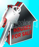 Houses For Sale Means Sell Property 3d Rendering