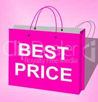 Best Price Shopping Bags Shows Bargains 3d Illustration