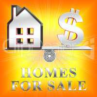 Homes For Sale Means Sell House 3d Rendering