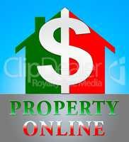 Property Online Indicating Real Estate 3d Illustration