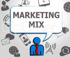 Marketing Mix Place Price Product 3d Illustration