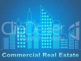 Commercial Real Estate Represents Offices Sale 3d Illustration
