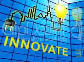Innovative Word Represents Creative Breakthrough 3d Illustration