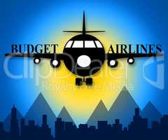 Budget Airlines Showing Special Offer Flights 3d Illustration