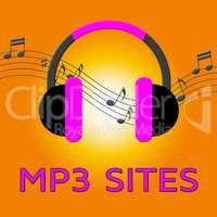 Mp3 Sites Shows Music Downloads 3d Illustration