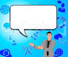 Speech Bubble Meaning Blank Message 3d Illustration
