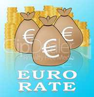 Euro Rate Meaning Europe Exchange 3d Illustration