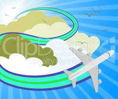 Travel Sites Meaning Online Vacations 3d Illustration