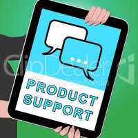 Product Support Key Shows Online Assistance 3d ILlustration