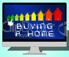 Buying A Home Representing Real Estate 3d Illustration