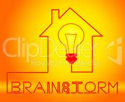 Brainstorm Light Means Dream Up And Brainstorming