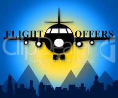 Flight Offers Meaning Airline Sale 3d Illustration