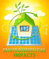 Environmental Impacts Displays Ecology Effect 3d Illustration