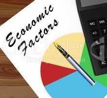 Economic Factors Meaning Financial Features 3d Illustration