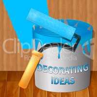 Decorating Ideas Showing Decoration Advice 3d Illustration