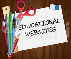 Educational Websites Paper Shows Learning Sites 3d Illustration