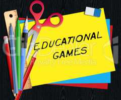 Educational Games Means Learning Game 3d Illustration