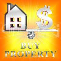 Buy Property Means Real Estate 3d Rendering