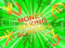 Money Making Schemes Means Wealth System 3d Illustration