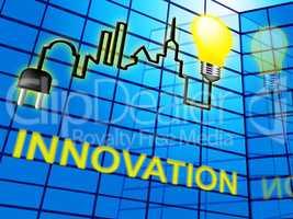 Innovation Lightbulb Shows Reorganization Transformation 3d Illu