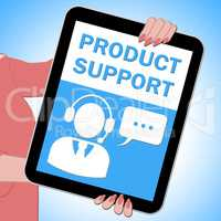 Product Support Tablet Showing Online Assistance 3d ILlustration