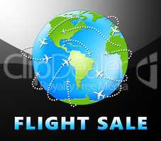 Flight Sale Representing Low Cost Flights 3d Illustration