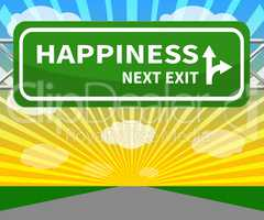 Happiness Sign Meaning Happier Joy 3d Illustration