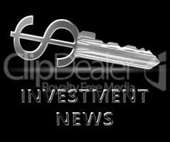 Investment News Means Investing Headlines 3d Illustration