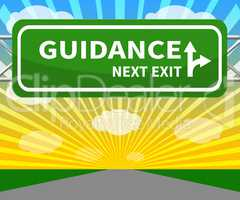 Guidance Sign Meaning Advice And Support 3d Illustration