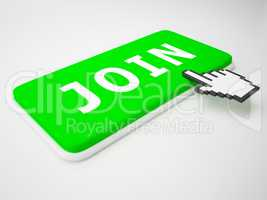 Join Key Shows Membership Admission 3d Rendering