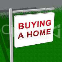 Buying A Home Shows Real Estate 3d Illustration