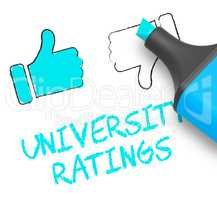 University Ratings Shows Approved Universities 3d Illustration