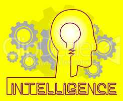 Intelligence Cogs Represents Intellectual Capacity And Acumen